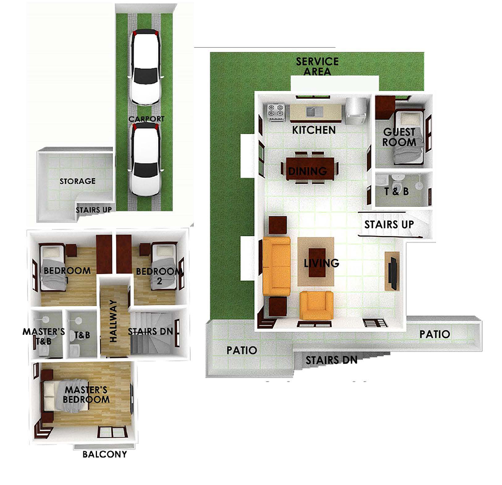 Serenis single detached house uphill for sale liloan cebu for Single detached house floor plan