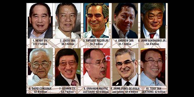 Top 6 Richest Filipino Tycoons Investing In Real Estate